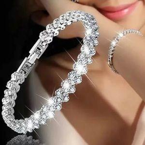 Women Luxury Crystal Rhinestone Tennis Bracelet